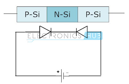 3.back to back connection of diode